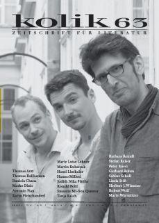 """""""Gratwanderung. Monodrama"""", zuerst in: kolik, Zeitschrift für Literatur, Nr. 63, Wien 2014. http://www.kolik.at/archiv.php?ausgabeid=63 https://stefanreiser.com/gratwanderung/"""