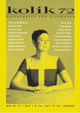 """""""Regie an Ensemble"""", zuerst in: kolik, Zeitschrift für Literatur, Nr. 72, Wien 2017. http://www.kolik.at/archiv.php?ausgabeid=72"""