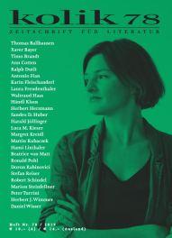 """""""Einbettung eines Videos"""", in: kolik, Zeitschrift für Literatur, Nr. 78, Wien 2019. http://www.kolik.at/archiv.php?ausgabeid=78"""